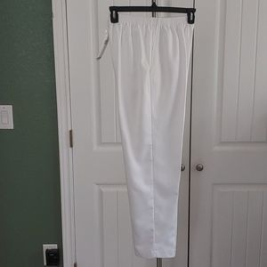 ALFRED DUNNER Pull On Woman Pants White 10